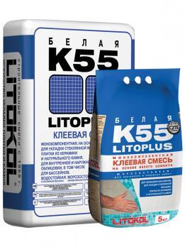 LITOKOL  LITOPLUS K55 Клей для укладки стеклянной мозайки (белый) (25 кг) (54шт/под)