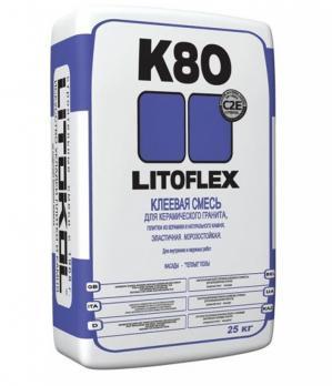LITOKOL  LitoFlex K80 (серый) цементный клей для плитки (25 кг) (54шт/под)