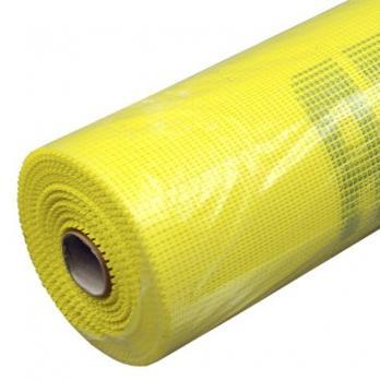 Cетка стеклотканевая для фасадных работ 5мм*5мм 145г/м2 (желтая)