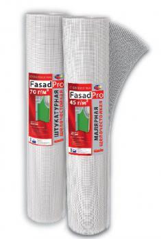 Сетка стеклотканевая для штукатурных работ ФасадПро 70гр/м2 5ммх5мм (50м2)