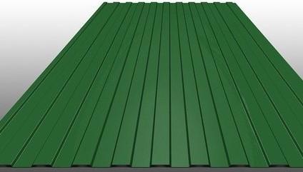 Профнастил зеленый 0,35*1200*2000