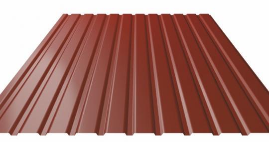 Профнастил коричневый 0,35*1200*2000мм